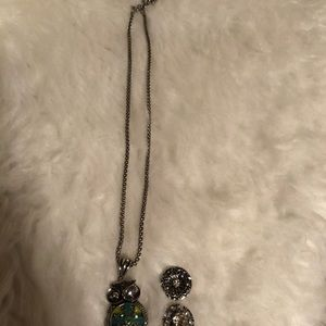 Gingers Snaps Other - Ginger Snaps Owl necklace & 3 charms